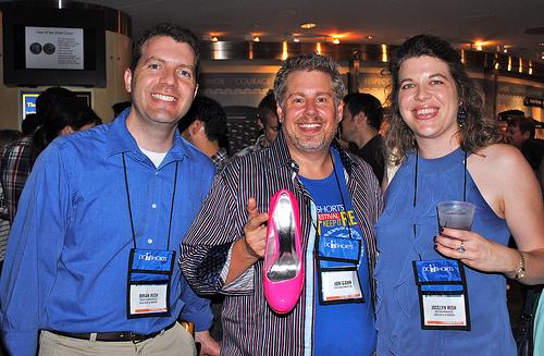 Brian Rish, Jon Gann, Jocelyn Rish at DC Shorts Film Fest
